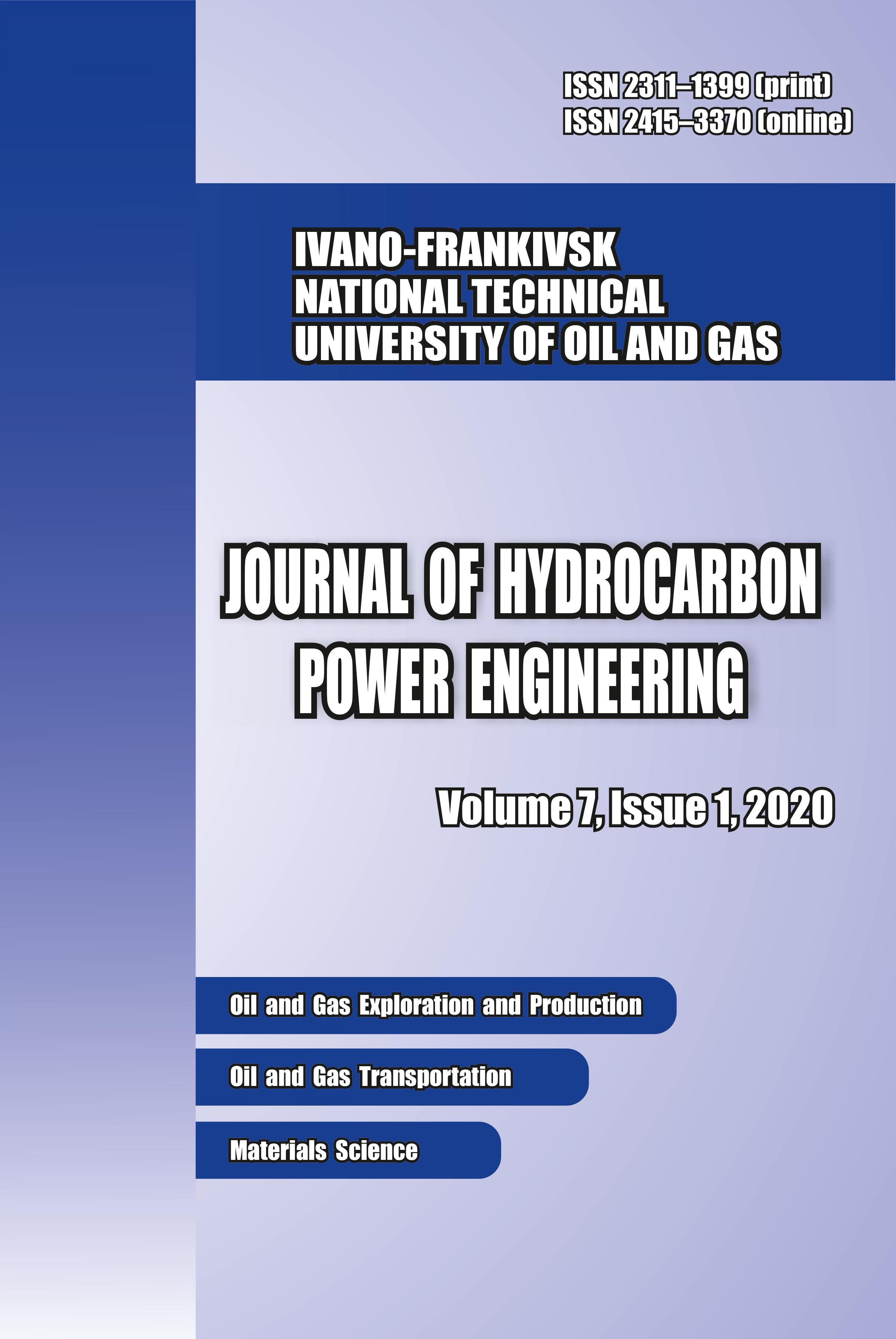 View Vol. 7 No. 1 (2020): JOURNAL OF HYDROCARBON POWER ENGINEERING